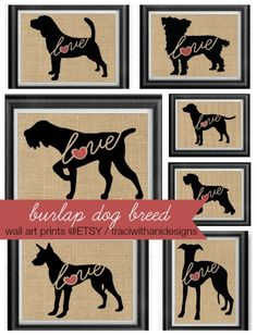 Burlap Wall Art - Dog Breeds @ ETSY