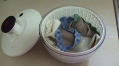 Dry hand-washed clothes with a salad spinner. | 25 Ingenious Clothing Hacks Everyone Should Know