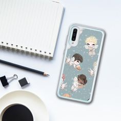 Your place to buy and sell all things handmade Food Phone Cases, Fluffy Phone Cases, New Samsung Galaxy, Phone Cases Samsung Galaxy, Samsung A Series, Drinking Tea, Iphone Se, Angel, Drawing Poses
