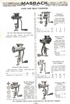 1936 Masback mincers