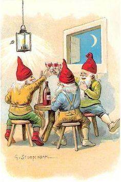 Santa Gnomes Party 1907 by hagerstenguy, via Flickr