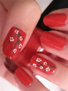 Red Nail Ideas for Short Nails