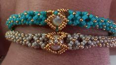 Beaded Jewelry Designs, Handmade Beaded Jewelry, Bead Jewellery, Handmade Bracelets, Beaded Bracelets Tutorial, Bead Loom Bracelets, Bracelet Crafts, Beads And Wire, Bracelet Patterns