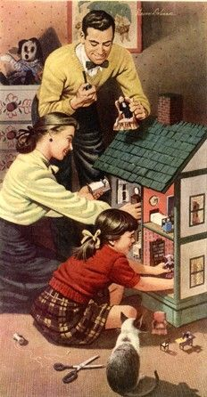vintage family dinner ad - Google Search