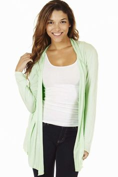 Mint Waterfall Women's Cardigan Sweater