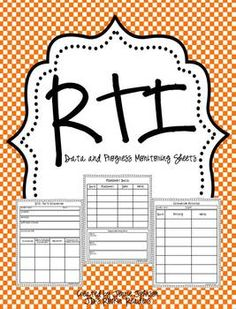 RTI- Progess Monitoring Recording Pages FREEBIE - JD's Rockin' Readers - Awesome!