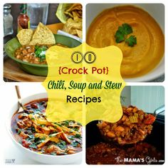 Round-Up Monday–10 {Crock Pot} Chili, Soup, and Stew Recipes | Fun Home Things