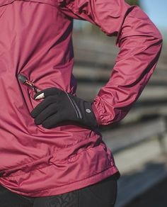 Brisk Run Gloves | These running gloves were designed as an essential base layer to help warm our chilly hands. Touchscreen-friendly fingertips let us dial a friend so we don't have to talk to ourselves on the long walk home.