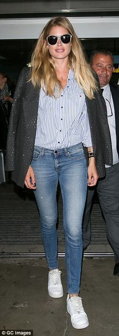 Back again? Dutch supermodel Doutzen Kroes was back in Nice on Monday after flying out of ...