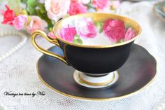 english tea set floral tea cup set Royal by VintageTeaTimeByNiw