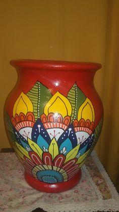 Bottle Painting, Diy Painting, Diy Crafts Room Decor, Painted Flower Pots, Clay Pot Crafts, Tile Art, Pottery Vase, Bottle Crafts, Bead Art