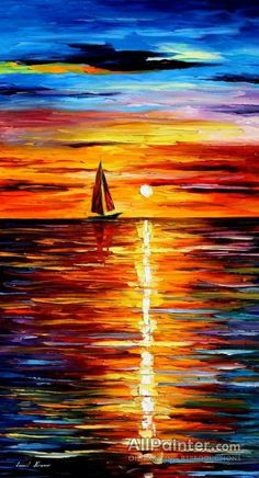 Sea Reflections by Leonid Afremov Handmade oil painting reproduction on canvas for sale,We can offer Framed art,Wall Art,Gallery Wrap and Stretched Canvas,Choose from multiple sizes and frames at discount price. Simple Oil Painting, Oil Painting Abstract, Watercolor Artists, Watercolor Painting, Landscape Quilts, Landscape Paintings, Sea Paintings, Indian Paintings, Leonid Afremov Paintings