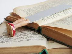 TOMs shoes bookmark. Legs in the book. Red. by MyBookmark on Etsy