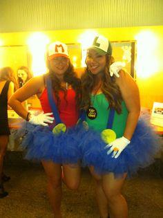Halloween 2013 pre-party DIY Mario Brothers