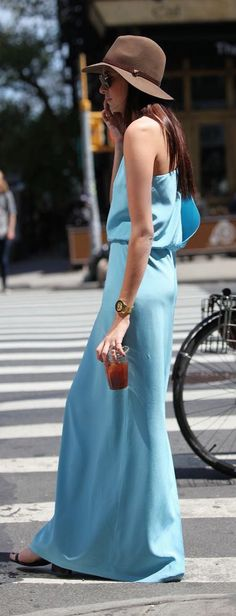#summer #fashion / light blue