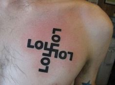 This is a very odd/terrible tattoo. LOLFAIL