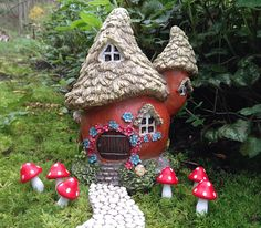 Fairy house for miniature fairy garden gnome home enchanted