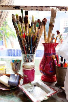 Artist Studio and Tools, Isabelle Tuchband, Artist, Todd Selby, Photographer