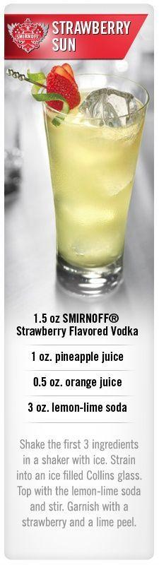 Smirnoff Strawberry Sun