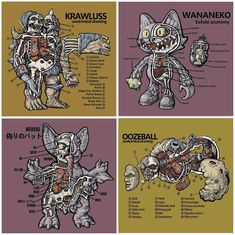 """""""Kaiju Anatomy"""" by CryBag Dissects Your Fav Kaiju Collectibles!"""