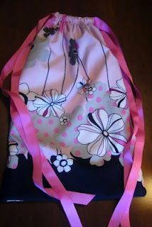 Cinch sack backpack from a pillowcase