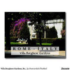 Villa Borghese Gardens, Rome, Italy Postcard