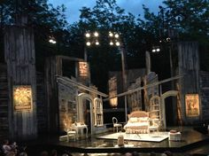 Too Many Husbands, American Players Theatre 2013. Scenic design by Nayna Ramey.