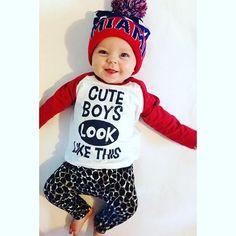 373fc19556b4 2017 Autumn New baby boy clothing set fashion cotton long-sleeved letter  T-shirt+