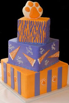 And Who Wouldnt Want These For Football Season That Is Clemson - Clemson birthday cakes
