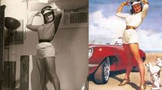 Pin-up girls...before & after