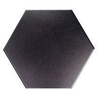Black Hex Porcelain Floor Tile - 10 in $5.99 Sq Ft     			 					Coverage 11.52 Sq Ft per  Box