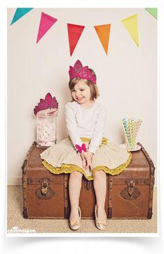 ☆  chamaleon.fr  ☆  Couronne de princesse en feutrine rose et grise, made in France, lavable et ecosafe. #déguisement#couronne#princesse#crown#felt  / photo Marine Poron ☆