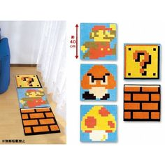 Super Mario Bros. Dot Design Mat: Type B Question Mark
