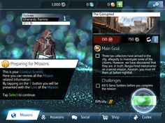 Assasin's Creed Identity - Mission Info - UI HUD User Interface Game Art GUI iOS Apps Games