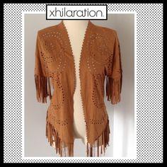 XHILARATION Faux Suede Kimono Vest XHILARATION Faux Suede Kimono Vest. NWOT Xhilaration Jackets & Coats Vests