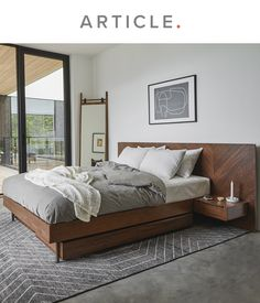 Our bedroom collections bring mid-century flare and practical storage solutions. Whether a guest bedroom or your personal chambers, these contemporary styles offer relaxation and reprieve. Home Decor Bedroom, Home, Home Bedroom, Mid Century Bed, Bedroom Inspirations, Bed, Modern Bed, Bedroom Collection, Mid Century Modern Bedroom