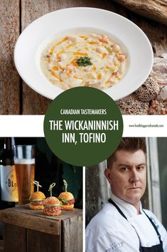 Tofino's Wickaninnish Inn is a beacon for West Coast storm watchers. Executive Chef Warren Barr takes us behind the scenes of The Wickaninnish Cookbook, which celebrates the Inn's anniversary, local ingredients and the beautiful landscape of Tofino. Canadian Cuisine, Canadian Food, Clam Chowder Recipes, Soup Recipes, Restaurant Recipes, Foodie Travel, Soups, Food And Drink, Executive Chef