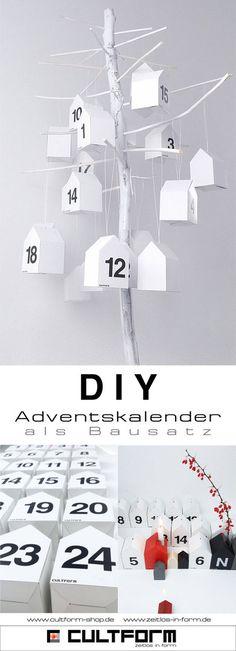Hausbox24 der Adventskalender 'DIY #Adventskalender #Bausatz #Cultform #Design #Minimalismus #Häuschen