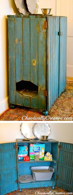 Cabinet for Cat Litter Box Ways to Hide Litter Box