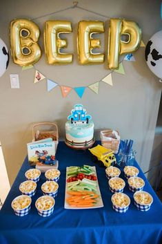 boy birthday parties Check out this fun Little Blue Truck Birthday Party! the cake is so cute! See more arty ideas and share yours at Boy First Birthday, Boy Birthday Parties, Birthday Ideas, 16th Birthday, Birthday Cakes, Little Blue Trucks, Monster Truck Birthday, Party Cakes, Party Ideas