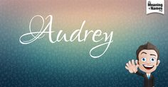 Fun facts, hidden #NameMeaning, beautiful revelations & #nice name poster about #Audrey. This is 1 out of 10 character designs to collect. Everyday a new design will be created for this name. Did you get the cute girl?