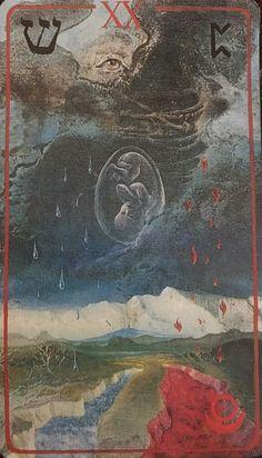 Judgement Tarot Card, Famous Art Pieces, Cosmic Egg, Tarot Astrology, Tarot Major Arcana, Cartomancy, Tarot Card Decks, Tarot Readers, Illustrations
