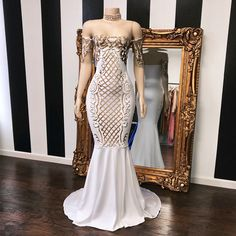 """1,166 Likes, 29 Comments - Lynira Label (@lyniralabel) on Instagram: """"The HAILEY Glitz Gown in nude ✨  www.LyniraLabel.com #like4like #gown #diamond #dress #boutique…"""""""