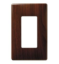 Decorative Finish Screwless Wall Plates, Decorator Openings, Plastic Subplate, One Gang in Walnut | by Legrand