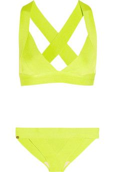 Herve Leger + neon. what's not to love?