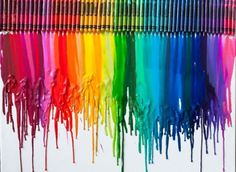 Oh man how fun! Glue the crayons to a canvas and melt with a hair dryer! Definitely something for when it gets nice out!