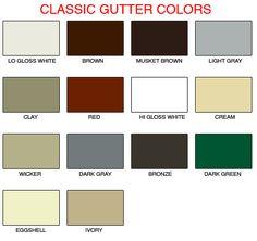 Best Alcoa Aluminum Gutter Color Chart Gutters Gutter 640 x 480