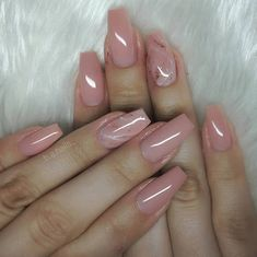 Are you ready to change your nails? Take a look at our trendy simple coffin nails. These are the most popular ballet nails in Blush Nails, Neutral Nails, Nude Nails, Coffin Nails, Summer Acrylic Nails, Best Acrylic Nails, Nail Summer, Pink Nail Designs, Acrylic Nail Designs