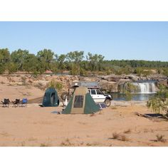 Camping at Leichhardt Falls Queensland.