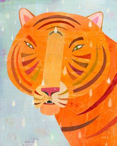 Raindrop Tiger print by Melanie Mikecz